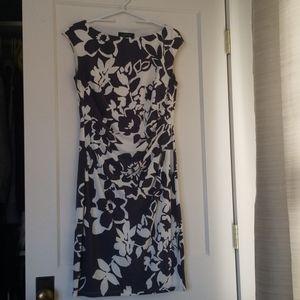 Gray and off white Ralph Lauren dress